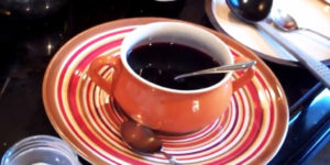 Wine and fortified wine in soup